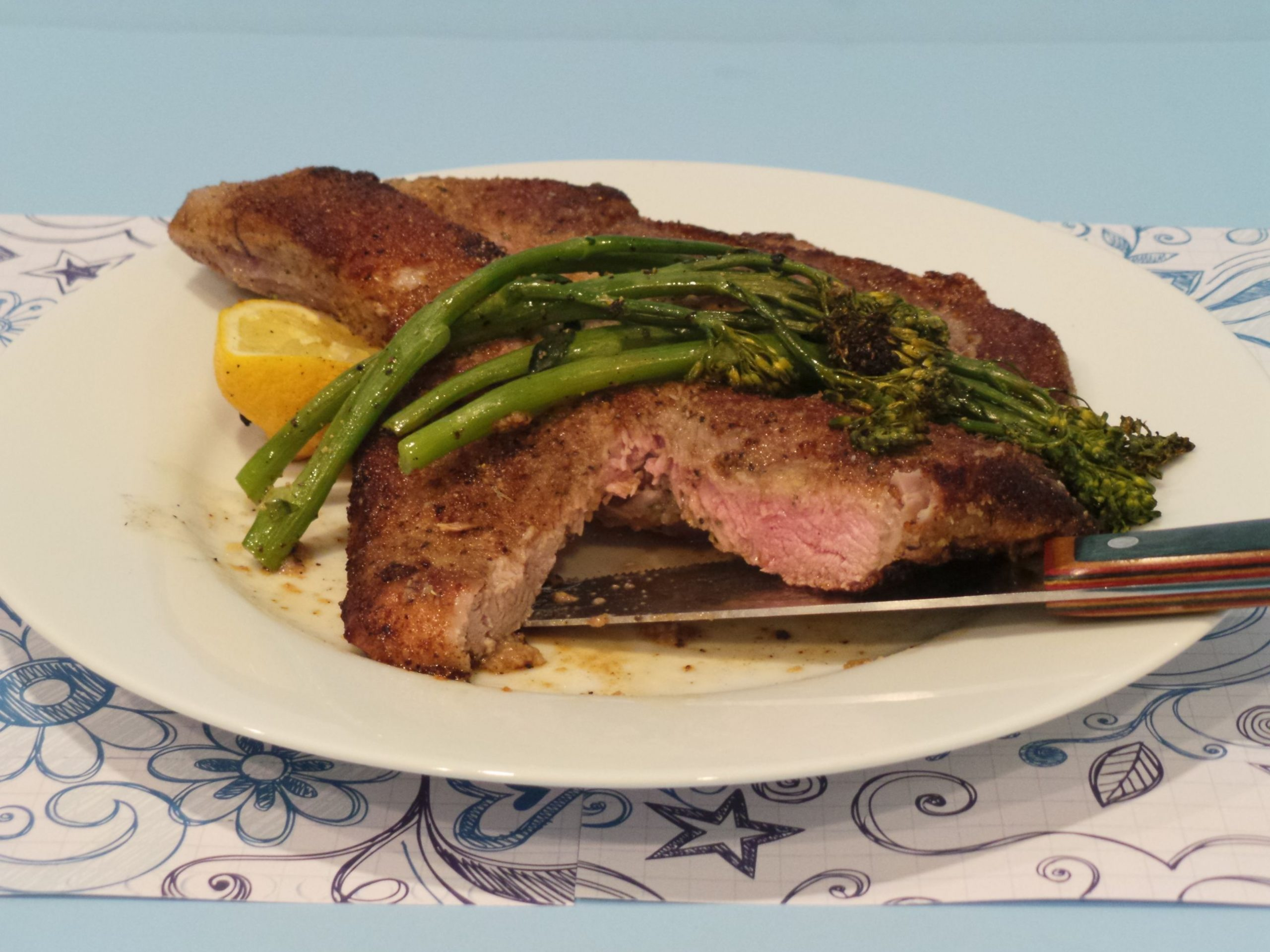 A Glamorous Christmas Dinner…Veal Chops Milanese