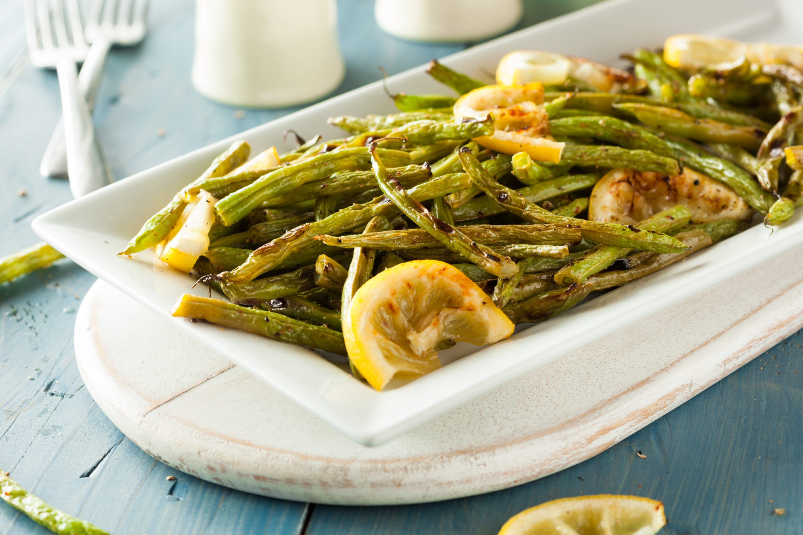Gourmet green beans for tonight's side dish