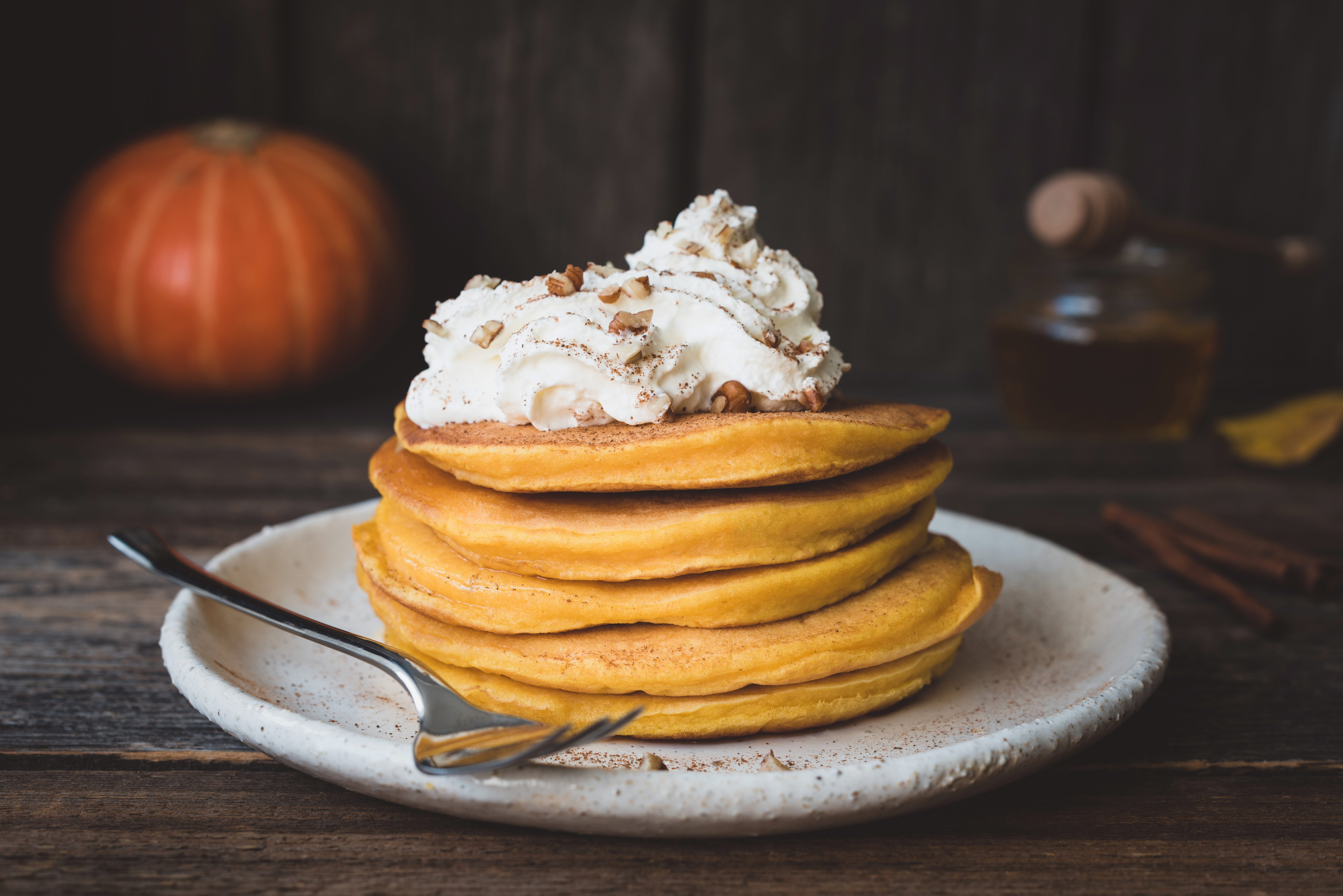 Pumpkin Griddle Cakes with a Surprise Topping…