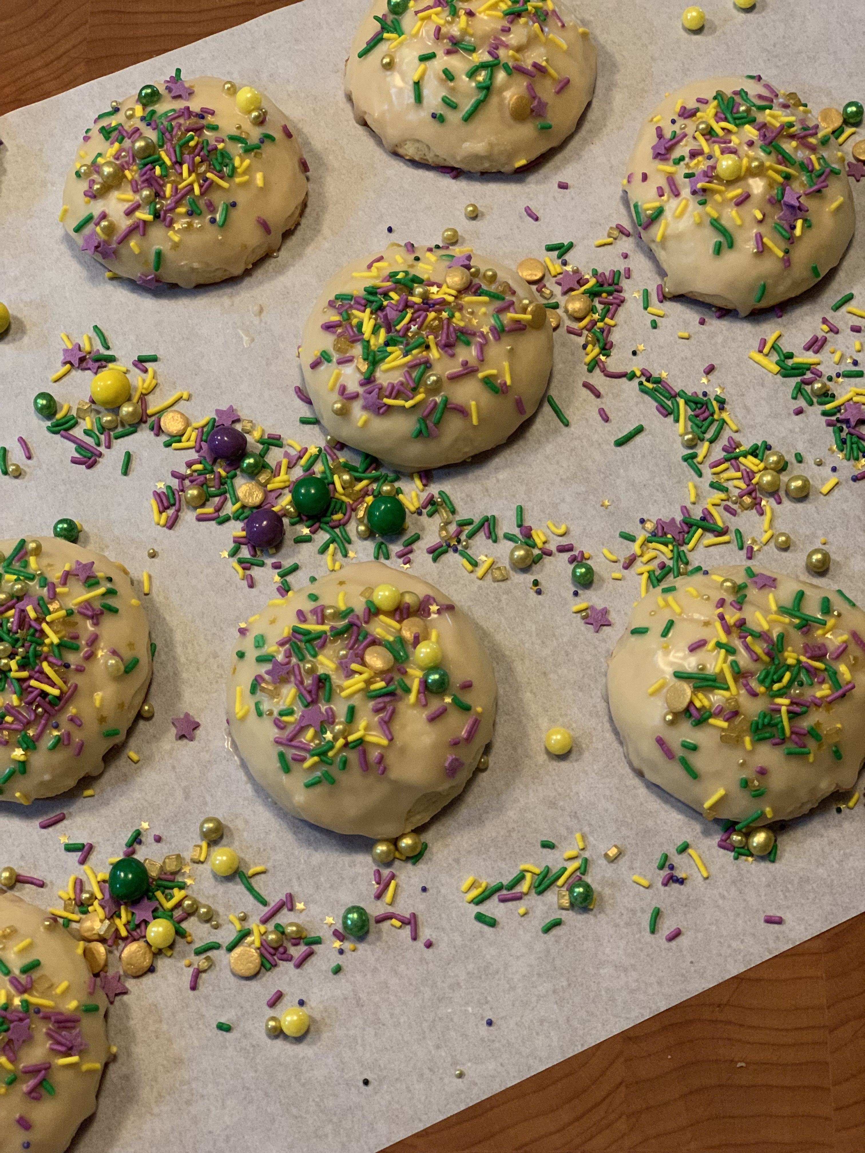 King Cake Cookies for Fat Tuesday FUN!
