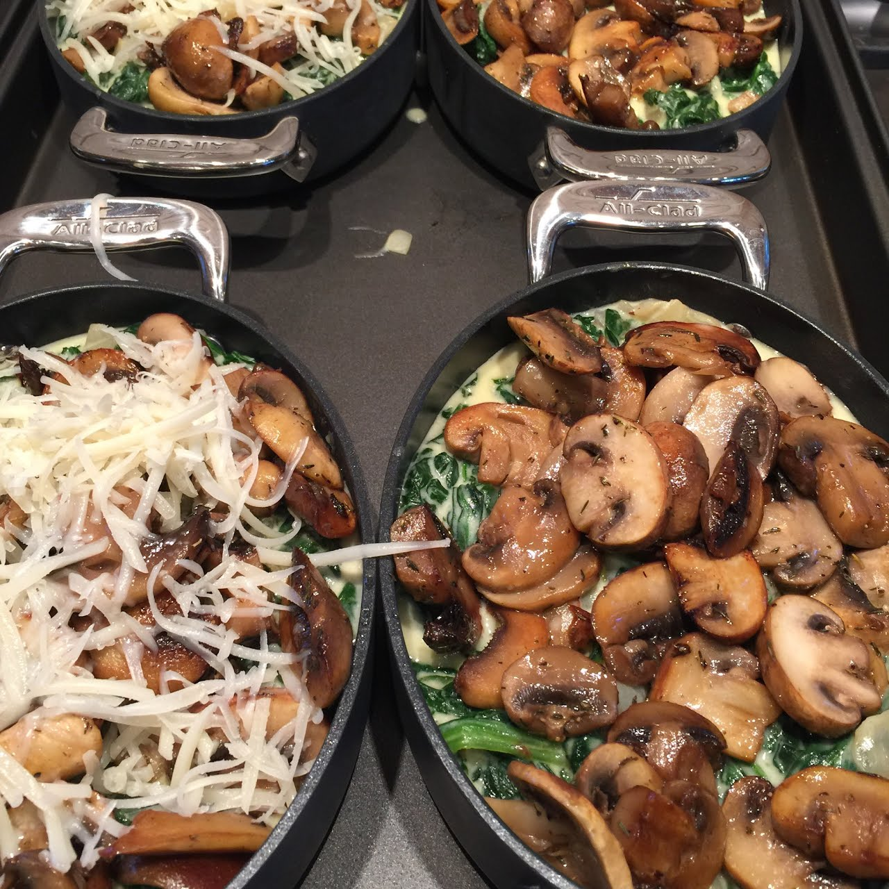 Cooking With Mushrooms and Spinach